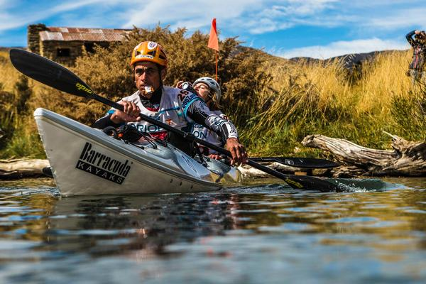 Team Seagate paddling from a checkpoint on the Clutha River 2013 GODZone.