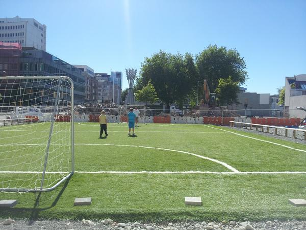 The Inner City Football Pitch in Action
