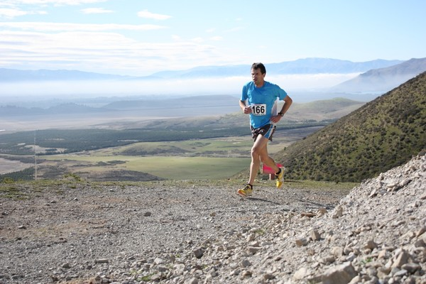 Top of Pyramid Run, Rob Howell winner of veteran mens� race