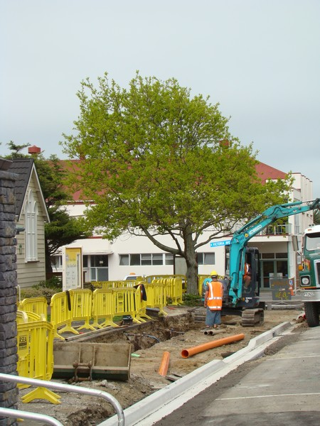 Work continues on Queen Street, Waiuku, as part of the Town Centre Upgrade