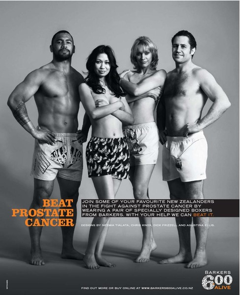 So let's beat it together - buy Barkers Boxers and help fight Prostate Cancer