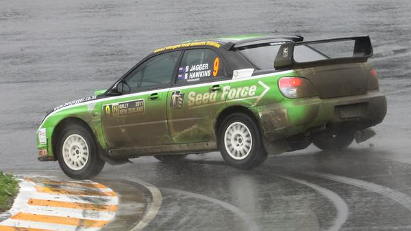 Ben Jagger slides the SeedForce Subaru WRX Impreza around in style at the Hampton Downs circuit on Saturday
