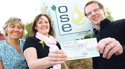 OSE celebrate 10th birthday with a donation to a  worthy cause