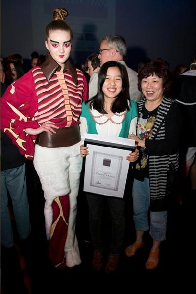 Yeonjae Choi as the 2012 Newmarket Young Fashion Designer of the Year Award Winner.