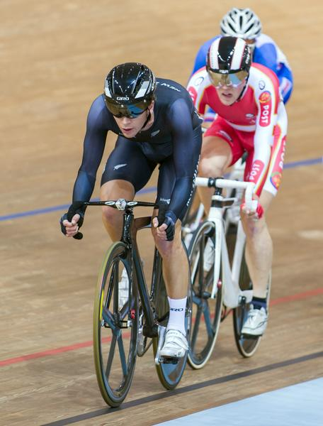 Omnium World Champion Aaron Gate in action.