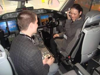 Ryan Manson proposed to Pia Parker in Dreamliner cockpit.