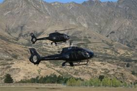 Distinctive all black fleet incorporating the Eurocopter EC 130 B4 and the Eurocopter EC 120 B