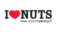 Alison's Pantry's 'I love Nuts' campaign logo