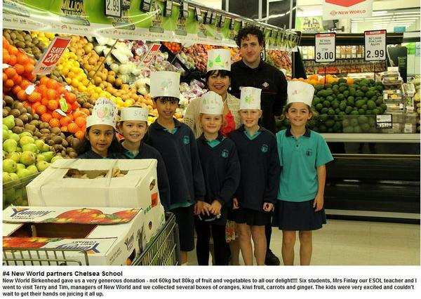 New World Birkenhead partners Chelsea Primary School for good health