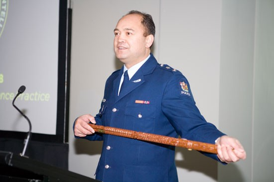 Cop with big stick