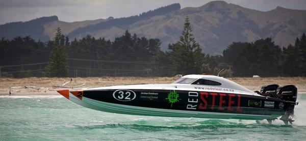 Red Steel is favourite to win the Superboat Lite Class.