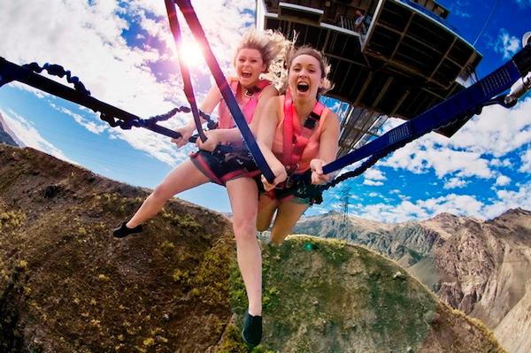 The World's tallest Bungy and Swing is The Nevis in Queenstown.