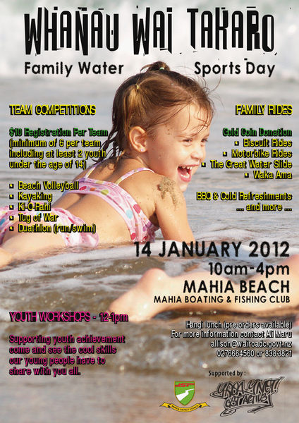Family Water Sports Day poster