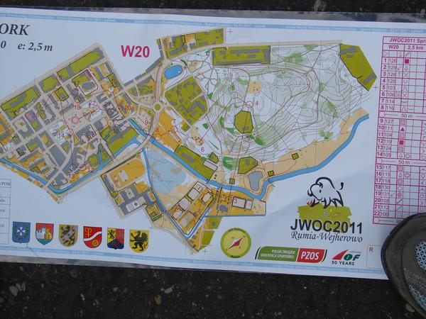 Womens Sprint course at JWOC