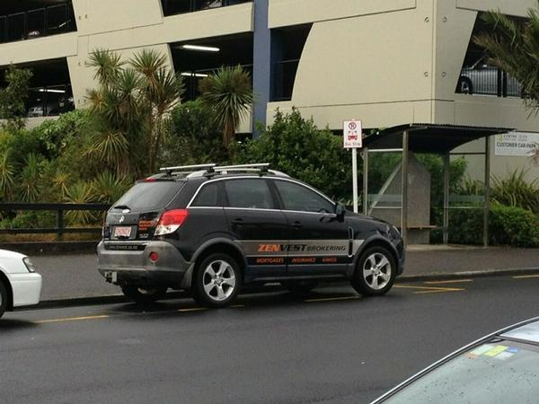 CAUGHT OUT: Murray Chong found parking in a bus stop